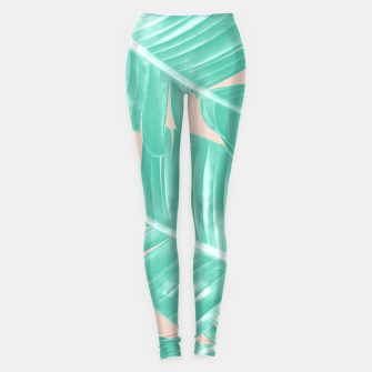 Miniature de image de Tropical Summer Banana Leaves Dream #1 #decor #art  Leggings, Live Heroes