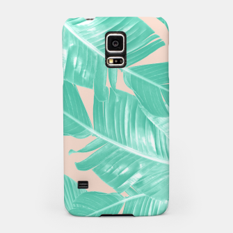 Miniature de image de Tropical Summer Banana Leaves Dream #1 #decor #art  Handyhülle für Samsung, Live Heroes