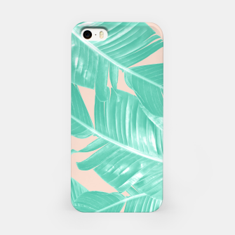 Miniature de image de Tropical Summer Banana Leaves Dream #1 #decor #art  iPhone-Hülle, Live Heroes