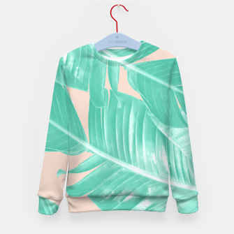 Miniature de image de Tropical Summer Banana Leaves Dream #1 #decor #art  Kindersweatshirt, Live Heroes