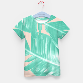 Miniature de image de Tropical Summer Banana Leaves Dream #1 #decor #art  T-Shirt für kinder, Live Heroes