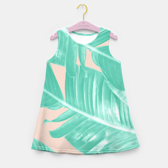Miniature de image de Tropical Summer Banana Leaves Dream #1 #decor #art  Mädchen-Sommerkleid, Live Heroes
