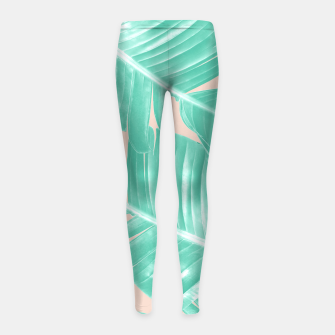 Miniature de image de Tropical Summer Banana Leaves Dream #1 #decor #art  Kinder-Leggins, Live Heroes