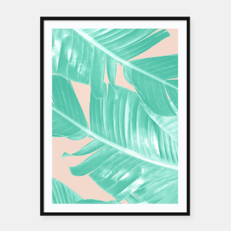 Miniature de image de Tropical Summer Banana Leaves Dream #1 #decor #art  Plakat mit rahmen, Live Heroes