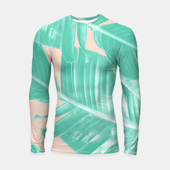 Miniature de image de Tropical Summer Banana Leaves Dream #1 #decor #art  Longsleeve rashguard, Live Heroes