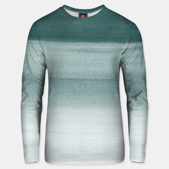 Thumbnail image of Touching Dark Teal Watercolor Abstract #1 #painting #decor #art  Unisex sweatshirt, Live Heroes