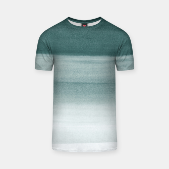 Thumbnail image of Touching Dark Teal Watercolor Abstract #1 #painting #decor #art  T-Shirt, Live Heroes