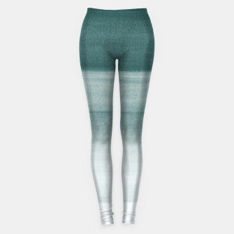 Miniature de image de Touching Dark Teal Watercolor Abstract #1 #painting #decor #art  Leggings, Live Heroes