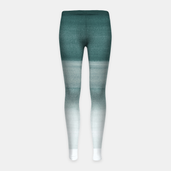Thumbnail image of Touching Dark Teal Watercolor Abstract #1 #painting #decor #art  Kinder-Leggins, Live Heroes