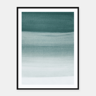 Thumbnail image of Touching Dark Teal Watercolor Abstract #1 #painting #decor #art  Plakat mit rahmen, Live Heroes