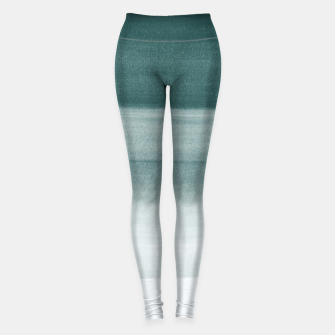 Thumbnail image of Touching Dark Teal Watercolor Abstract #1 #painting #decor #art  Leggings, Live Heroes