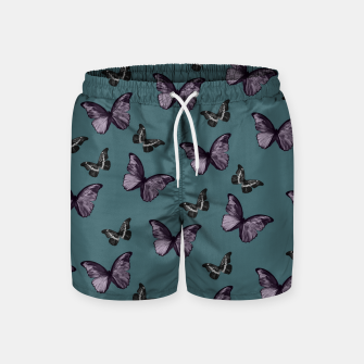 Miniaturka Teal Lavender & Black Butterfly Glam #1 #pattern #decor #art Badeshorts, Live Heroes
