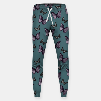 Miniature de image de Teal Lavender & Black Butterfly Glam #1 #pattern #decor #art Hosen, Live Heroes