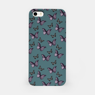 Miniature de image de Teal Lavender & Black Butterfly Glam #1 #pattern #decor #art iPhone-Hülle, Live Heroes