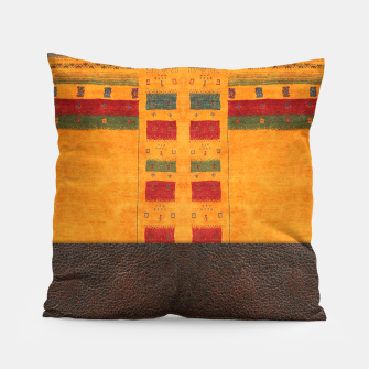 Thumbnail image of Heritage Traditional Leather Moroccan Boho Style  Pillow, Live Heroes