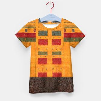 Thumbnail image of Heritage Traditional Leather Moroccan Boho Style  Kid's t-shirt, Live Heroes