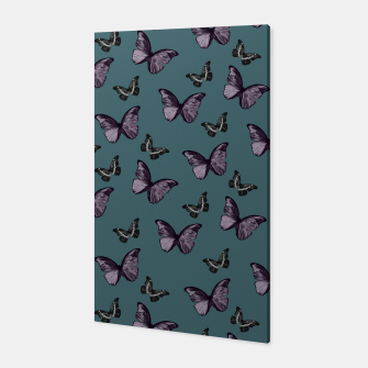 Miniaturka Teal Lavender & Black Butterfly Glam #1 #pattern #decor #art Canvas, Live Heroes