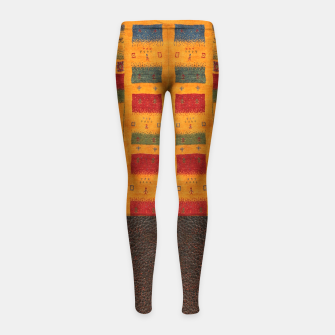 Thumbnail image of Heritage Traditional Leather Moroccan Boho Style  Girl's leggings, Live Heroes