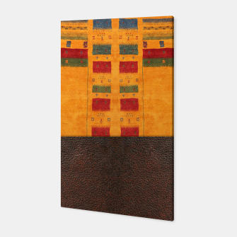 Thumbnail image of Heritage Traditional Leather Moroccan Boho Style  Canvas, Live Heroes
