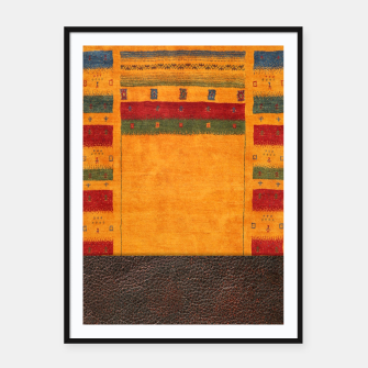 Thumbnail image of Heritage Traditional Leather Moroccan Boho Style  Framed poster, Live Heroes