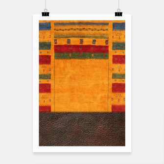 Thumbnail image of Heritage Traditional Leather Moroccan Boho Style  Poster, Live Heroes