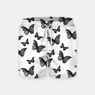Miniaturka Black & White Butterfly Glam #1 #pattern #decor #art  Badeshorts, Live Heroes