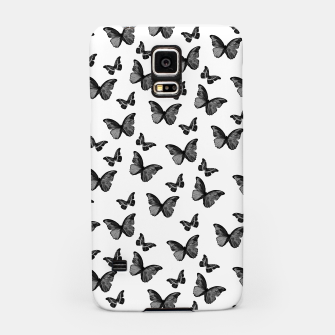 Thumbnail image of Black & White Butterfly Glam #1 #pattern #decor #art  Handyhülle für Samsung, Live Heroes
