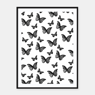Miniatur Black & White Butterfly Glam #1 #pattern #decor #art  Plakat mit rahmen, Live Heroes