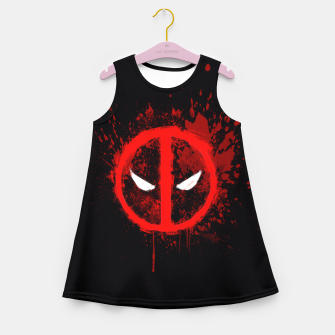 Miniaturka deadpool  Girl's summer dress, Live Heroes