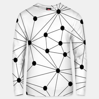 Miniaturka Abstract geometric pattern - black and white. Unisex sweater, Live Heroes