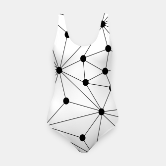 Miniaturka Abstract geometric pattern - black and white. Swimsuit, Live Heroes
