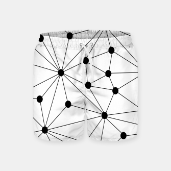 Miniaturka Abstract geometric pattern - black and white. Swim Shorts, Live Heroes