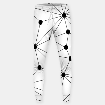 Miniaturka Abstract geometric pattern - black and white. Sweatpants, Live Heroes