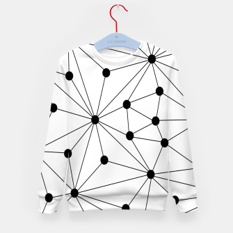 Miniatur Abstract geometric pattern - black and white. Kid's sweater, Live Heroes
