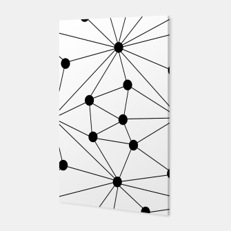 Miniaturka Abstract geometric pattern - black and white. Canvas, Live Heroes