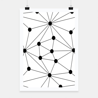 Miniaturka Abstract geometric pattern - black and white. Poster, Live Heroes