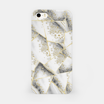 Miniaturka White Agate Gold Geometric Glam #1 #geo #gem #decor #art iPhone-Hülle, Live Heroes