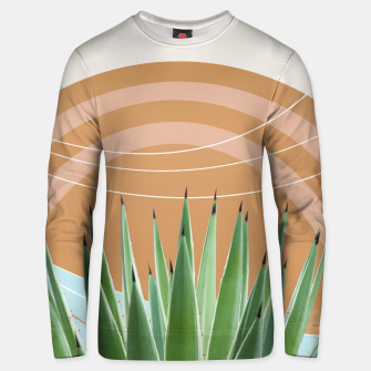 Thumbnail image of Agave in the Desert Oasis #1 #tropical #wall #art  Unisex sweatshirt, Live Heroes
