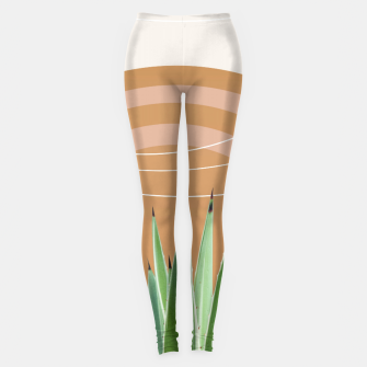 Thumbnail image of Agave in the Desert Oasis #1 #tropical #wall #art  Leggings, Live Heroes