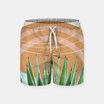 Thumbnail image of Agave in the Desert Oasis #1 #tropical #wall #art  Badeshorts, Live Heroes