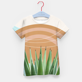 Miniatur Agave in the Desert Oasis #1 #tropical #wall #art  T-Shirt für kinder, Live Heroes