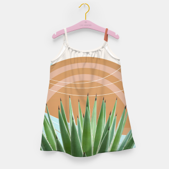 Miniaturka Agave in the Desert Oasis #1 #tropical #wall #art  Mädchenkleid, Live Heroes
