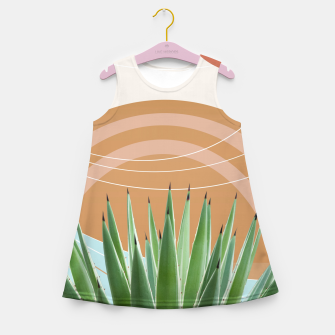 Miniaturka Agave in the Desert Oasis #1 #tropical #wall #art  Mädchen-Sommerkleid, Live Heroes