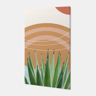 Miniaturka Agave in the Desert Oasis #1 #tropical #wall #art  Canvas, Live Heroes