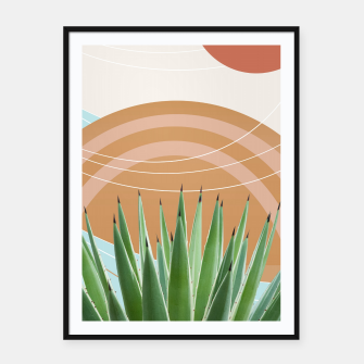Miniatur Agave in the Desert Oasis #1 #tropical #wall #art  Plakat mit rahmen, Live Heroes