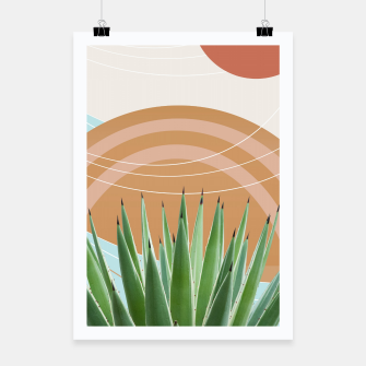 Thumbnail image of Agave in the Desert Oasis #1 #tropical #wall #art  Plakat, Live Heroes