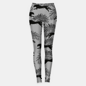 Miniatur Black Panther Palm Glitter Glam #2 #tropical #decor #art Leggings, Live Heroes