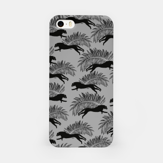 Miniaturka Black Panther Palm Glitter Glam #2 #tropical #decor #art iPhone-Hülle, Live Heroes
