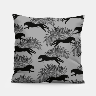 Thumbnail image of Black Panther Palm Glitter Glam #2 #tropical #decor #art Kissen, Live Heroes