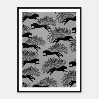 Miniatur Black Panther Palm Glitter Glam #2 #tropical #decor #art Plakat mit rahmen, Live Heroes